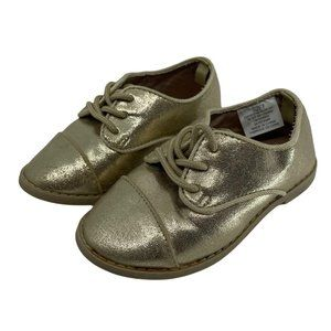 Gymboree Baby Girl Shoes Metallic Gold lace Up